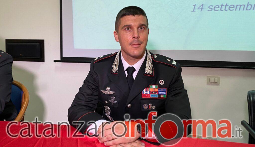 Magg. Christian Bruscia, Comandante della Compagnia di Lamezia Terme