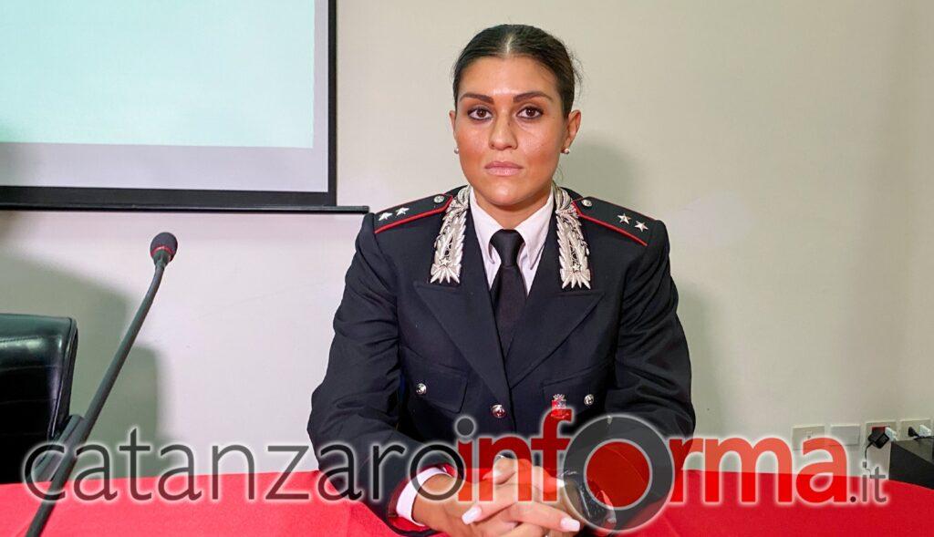 Ten. Felicia Basilicata, Comandante del Nucleo Operativo e Radiomobile della Compagnia di Catanzaro