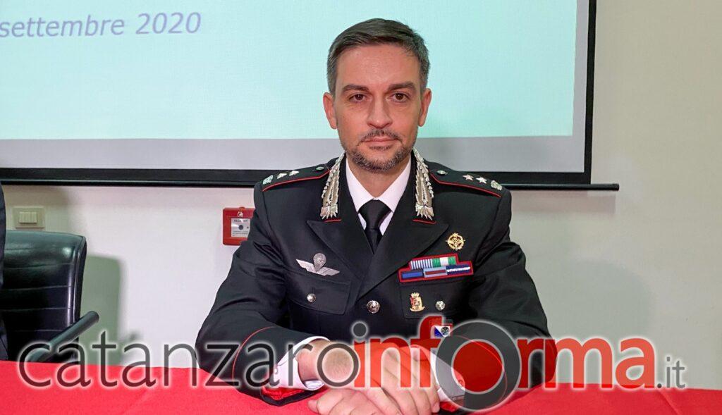 Ten. Col. Sergio Molinari, Comandante del Gruppo Carabinieri di Lamezia Terme